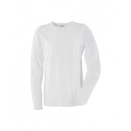 T-Shirt Manches longues col rond blanc