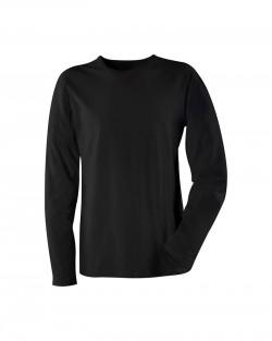 T-Shirt Manches longues col rond noir