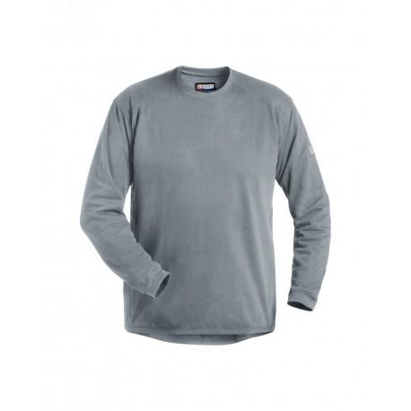 Sweatshirt col rond gris
