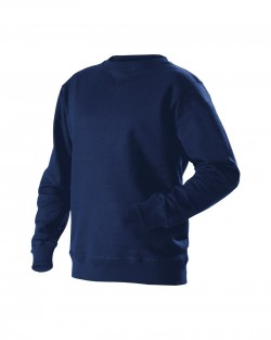 Sweatshirt col rond tissu éponge marine