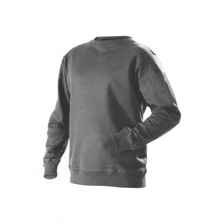 Sweatshirt col rond tissu éponge gris