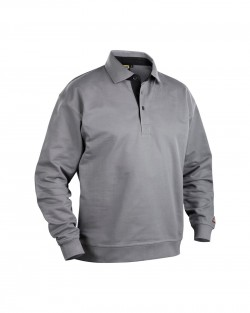 Sweatshirt col polo
