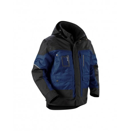 Veste à capuche Hiver marine/noir