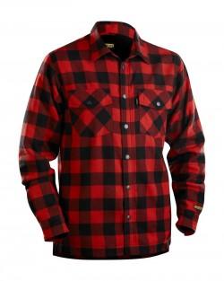 Chemise Flannelle doublée rouge/noir