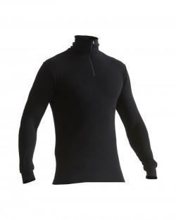 Haut de sous-vêtements col zippé WARM noir