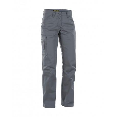 Pantalon industrie femme poly-recyclé gris