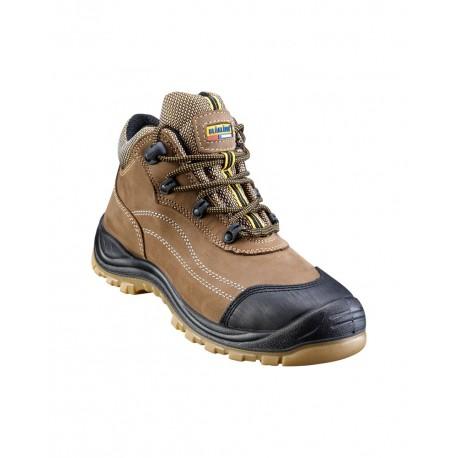 Chaussures de sécurité mi-haute maron