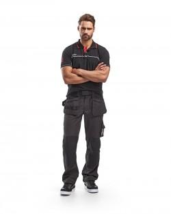 Pantalon de travail artisan été Gris Foncé/Noir