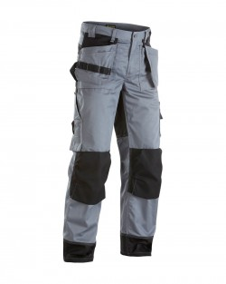 Pantalon artisan bicolore gris/noir en destockage