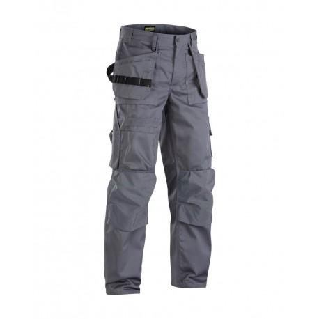 Pantalon de travail Blaklader artisan +, gris, poches libres